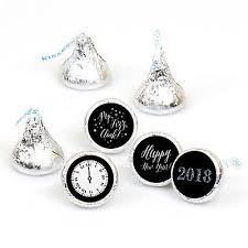 silver party favors new year s silver 108 candy labels new years