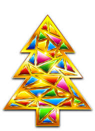 gold christmas mosaic tree transparent png clipart gallery