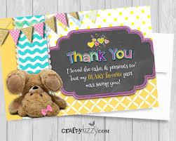 teddy bear 1st birthday thank you card bear pun thank you cards