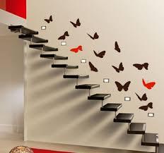 butterflies up stairs vinyl on walls pinterest decorate