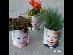 personalized flower pot diy planter personalized with family photos