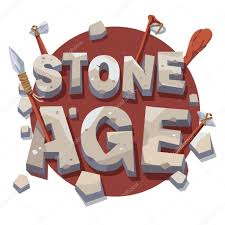 stone age writing with prehistoric wooden tools u2014 stock vector
