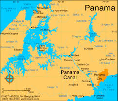 location canap where us panama canal on map figure 2 map of panama showing the