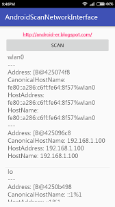 android er android example to list networkinterface