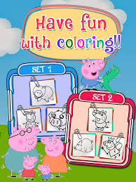 coloring book painting pictures peppa pig cartoon free edition