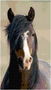 Home Decoration Pdf by Cross Stitch Portrait Of A Chocolate Horse Pattern Design Chart