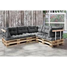 canapé d angle en palette coussin palette de jardin et terrasse gris ebay