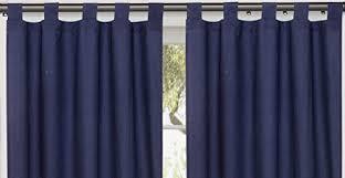 Navy Tab Top Curtains Utopia Bedding Tab Top Curtain 60 W X 63 L Navy Co Uk