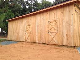 Dutch Barn Door by Horse Stalls