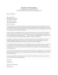 sample cover letter for babysitting job cover letter babysitter