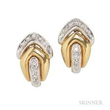 diamond earrings with price 18kt gold and diamond earrings price estimate 800 1200