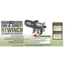 2500 lb electric atv utility winch with wireless remote control