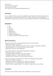 Health Care Resume Sample by Professional Epic Consultant Templates To Showcase Your Talent