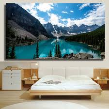 aliexpress com buy qkart wall art lake louise canada landscape aliexpress com buy qkart wall art lake louise canada landscape oil painting for living room bedroom wall pictures home decor from reliable oil painting