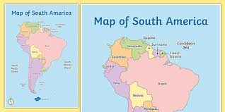south america map map of south america map south america continent countries