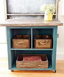 turn old bookshelf into rolling kitchen island hometalk