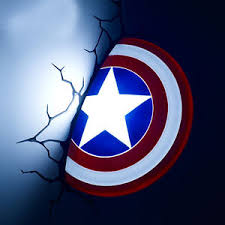 wall mounted night light marvel 3d fx deco led night light captain america shield wall