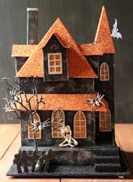 lori mitchell halloween halloween lighted house with skeleton by raz imports the weed