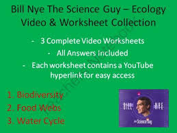 bill nye video worksheets three ecology worksheet collection