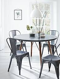 Kitchen Round Table by Abbott Concrete Top Round Fixed Dining Table Potterybarn I Am