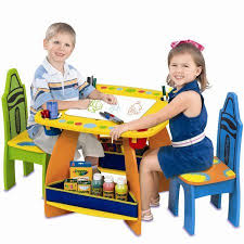 crayola table and chairs grow n up colorful crayola wooden table chair set with storage and