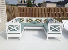 White Patio Furniture Set Chic Idea White Patio Furniture With Blue Cushions Dining Set