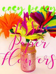 tissue paper flowers easy peasy craft