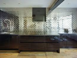 Mirrored Kitchen Backsplash Mirrored Kitchen Backsplash Tile Pictures Home Interior Design Ideas