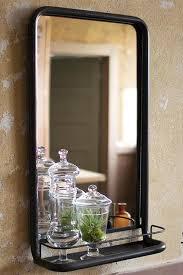 Bathroom Mirror And Shelf Black Bathroom Mirror With Shelf