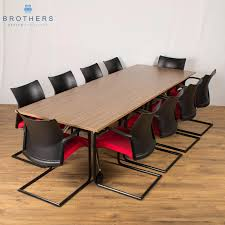 Collapsible Boardroom Table Walnut 2800x1000 Folding Boardroom Table