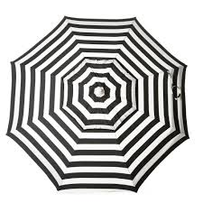 Blue And White Striped Patio Umbrella Destinationgear 6 Ft Aluminum Cabana Stripe Umbrella Black