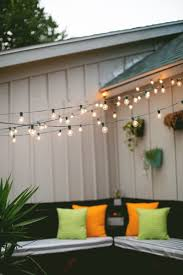 hanging outdoor string lights amazing how to hang outdoor patio string lights for ccceabadbcfbddc