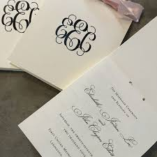 classic wedding programs classic monogram top opening booklet style wedding ceremony