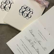 Wedding Ceremony Program Classic Monogram Top Opening Booklet Style Wedding Ceremony