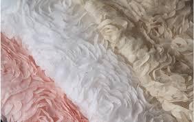 wedding dress material 3d rosette fabrics chiffon lace wedding dress fabric supplies