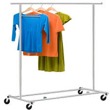 Shelf With Clothes Rod Homdox Heavy Duty Garment Rack Clothes Rolling Commercial Hanger