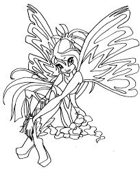 coloriages de dessins animés winx page 2
