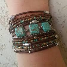 leather cuff wrap bracelet images Unique wrap bracelet best turquoise bracelet modern rustic jpg