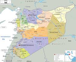 map of syria detailed political map of syria ezilon maps