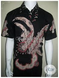 desain baju batik halus model baju batik pria modern lengan pendek tulis ld153t model baju