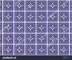 kitchen tiles classic blue white ceramic stock vector 4214260