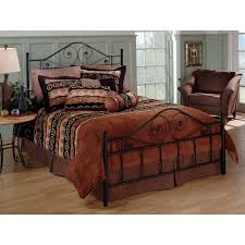 Iron Headboard And Footboard by Queen Size Black Metal Bed With Scrollwork Headboard And Footboard