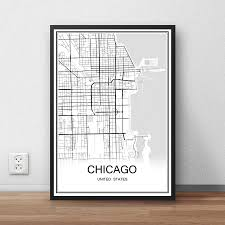 Chicago Us Map by Chicago Wall Map Promotion Shop For Promotional Chicago Wall Map