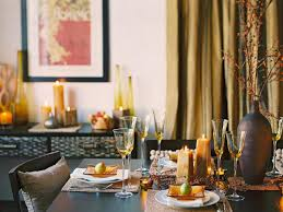 Fall Table Settings by Glittering Fall Table Setting And Centerpiece Ideas The Haus