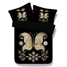 aliexpress com buy 6pcs per set luxury black and gold butterfly