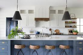 blue kitchen cabinets grey walls 53 blue kitchens blue kitchen design ideas hgtv