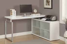 Quality Computer Desk Office Cool L Shaped Glasstop Office Workstation Computer Desk