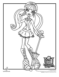 Monster High Coloring Pages Woo Jr Kids Activities Coloring Pages For High