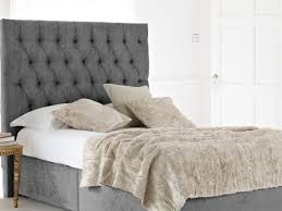 Metal Headboard Bed Frame Bed Ideas Light Grey King Bed Headboard With Buttons For Bedroom