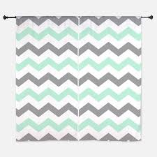 Turquoise And Grey Curtains Mint And Gray Chevron Pattern Curtains For Room Decor